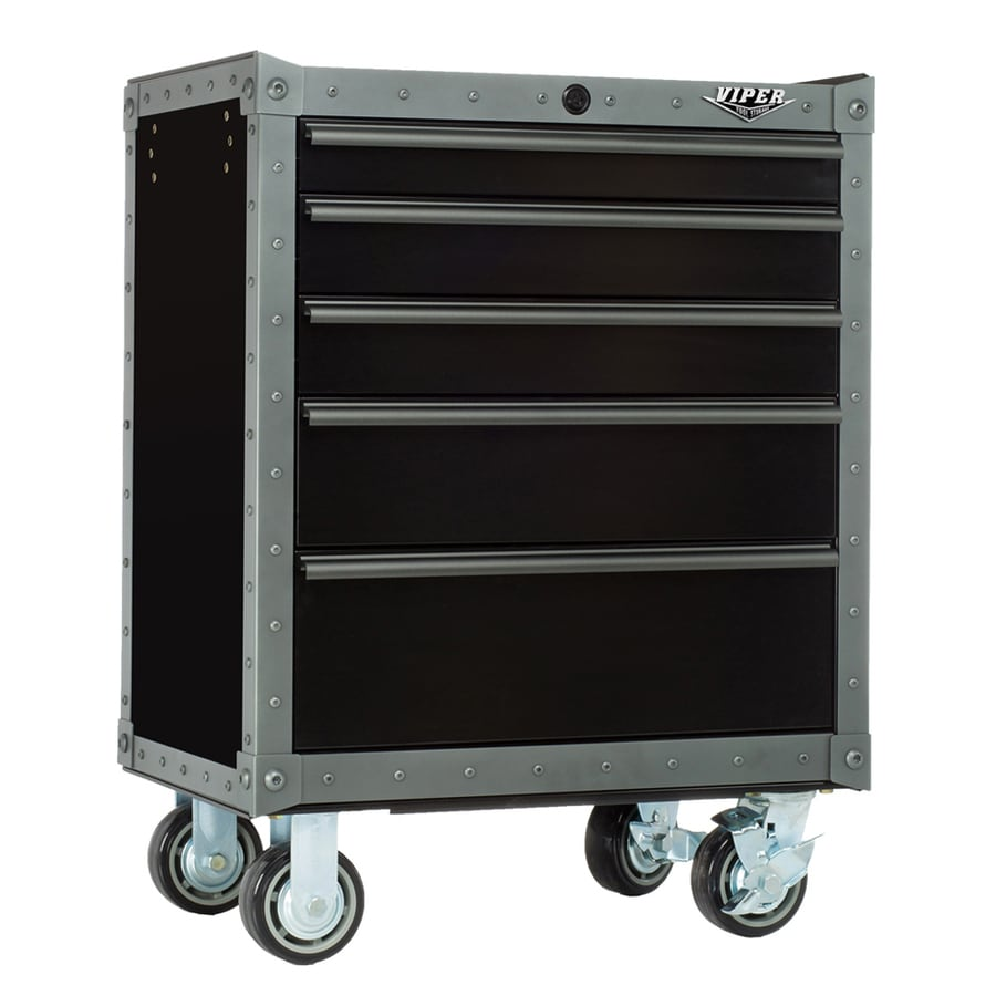 Viper Tool Armor 35.625-in x 26.688-in 5-Drawer Ball-Bearing Steel Tool Cabinet (Gray)
