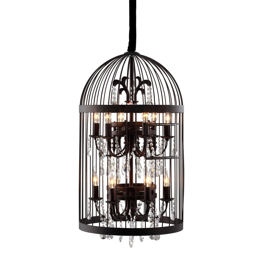 Shop zuo modern 199 in 12 light rust cage chandelier at lowes zuo modern 199 in 12 light rust cage chandelier arubaitofo Image collections