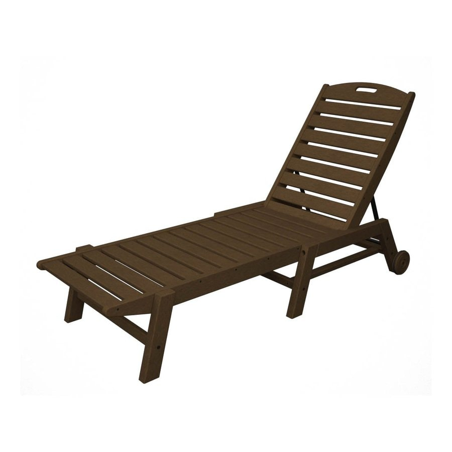 Shop polywood nautical stackable plastic chaise lounge for Patio furniture chaise lounge
