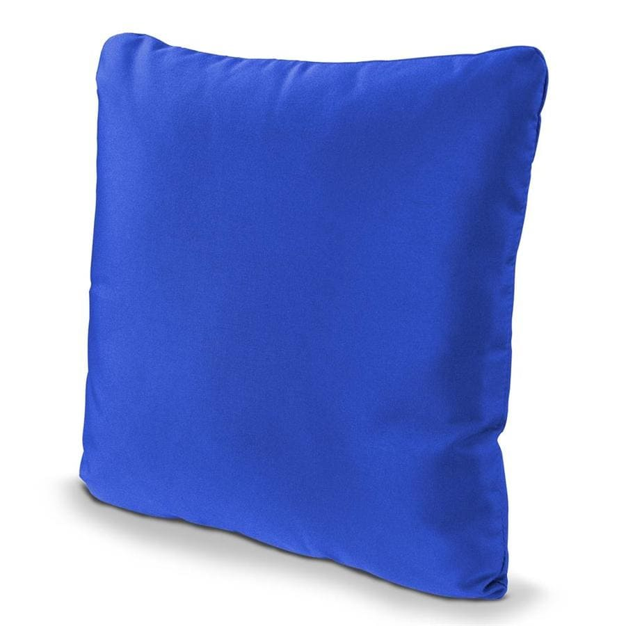 Shop POLYWOOD Pacific Blue Solid Square Outdoor Decorative Pillow at Lowes.com