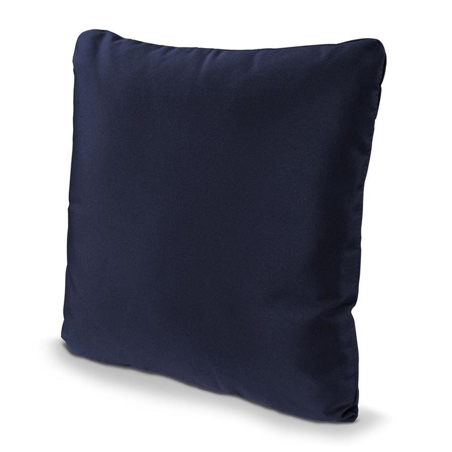 POLYWOOD Navy Solid Square Outdoor Decorative Pillow