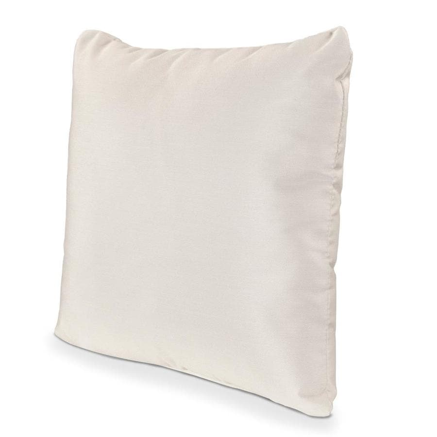 POLYWOOD Bird's Eye Solid Square Outdoor Decorative Pillow