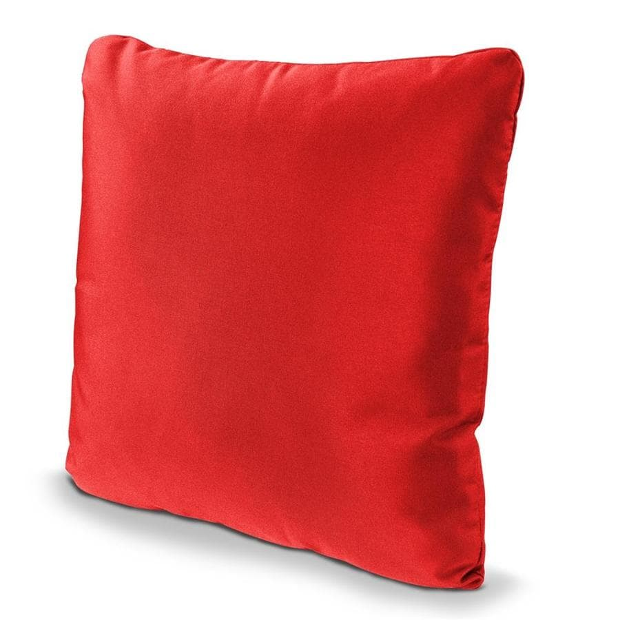 POLYWOOD Logo Red Solid Square Outdoor Decorative Pillow