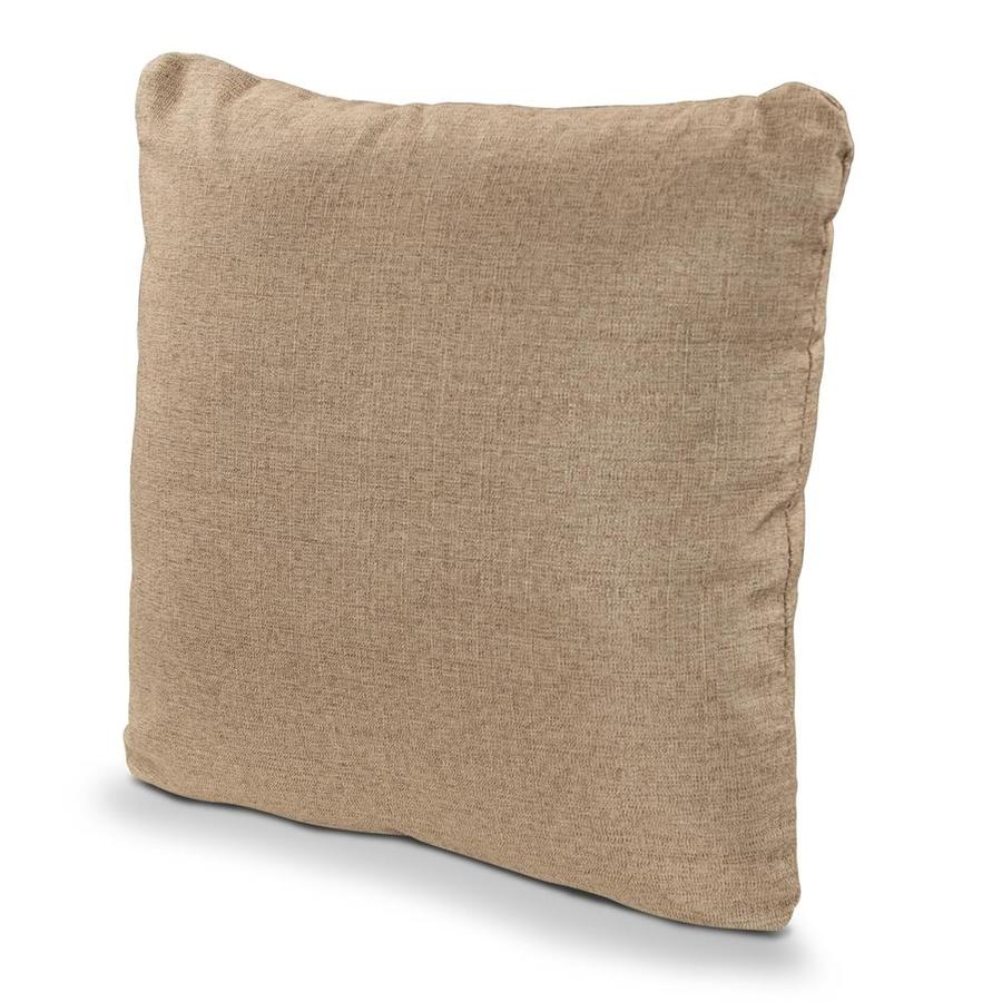POLYWOOD Sesame Solid Square Outdoor Decorative Pillow