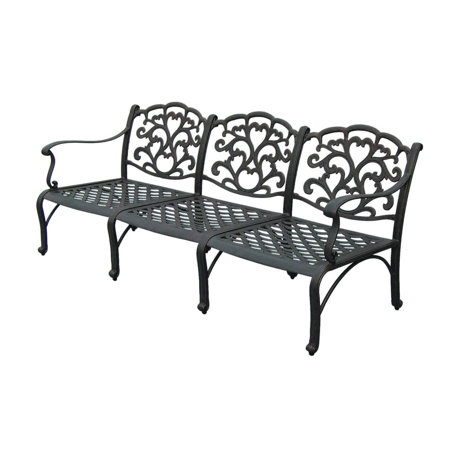 Darlee Catalina 32-in W x 77.5-in L Antique Bronze Aluminum Patio Bench