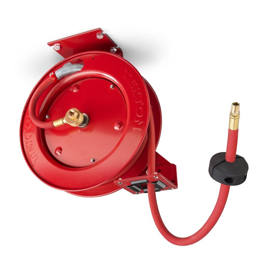 retractable air hose reel shop tekton retractable air hose reel at lowes 29036