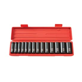 tekton 14piece 12in drive standard 6point impact socket