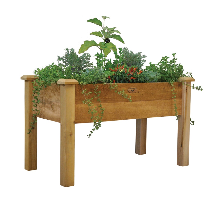 bed furniture pin wooden patio large rectangular plant planter planters box flower garden
