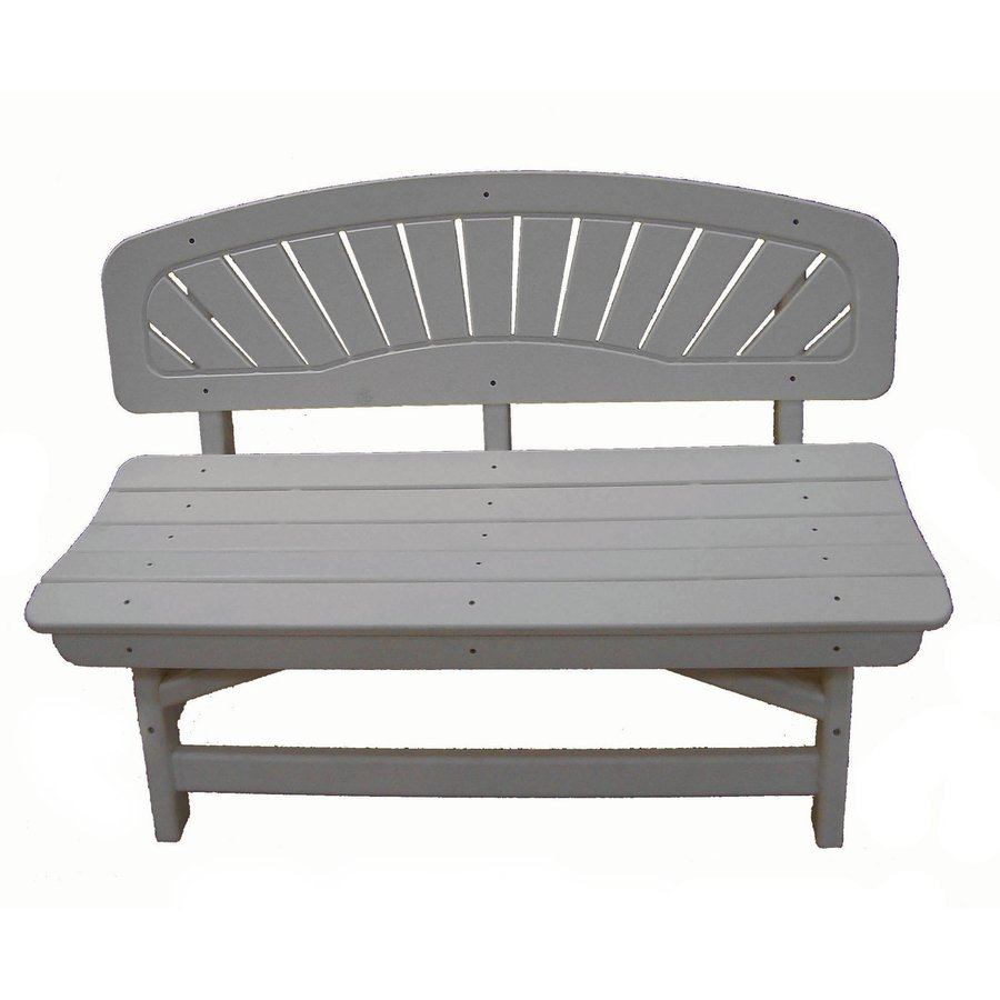 Perfect Choice Furniture Classic 20-in W x 48-in L Sandstone Plastic Patio Bench