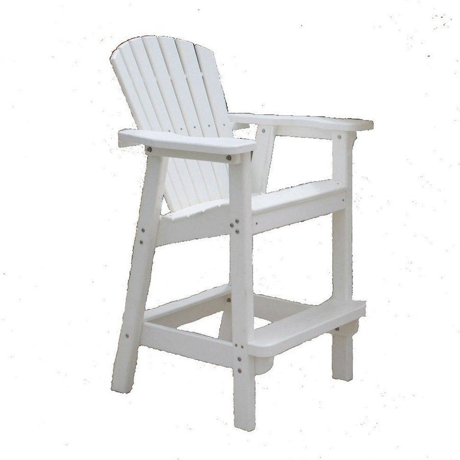 Shop Perfect Choice Furniture White Plastic Patio Barstool Chair At
