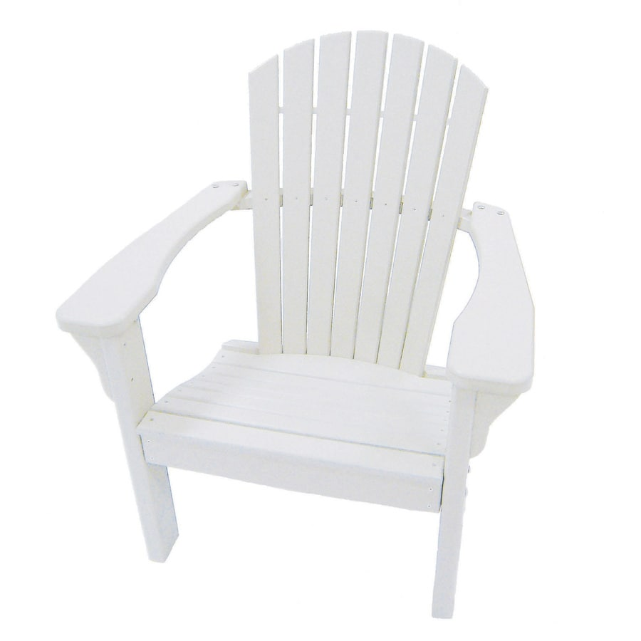 Shop perfect choice furniture white plastic patio dining for White plastic dining chair
