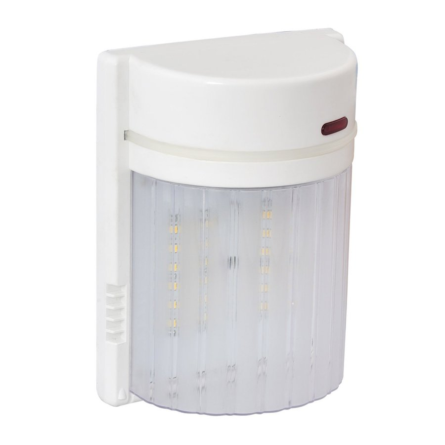 Shop Amax Lighting 1 Head White Led Dusk To Dawn Flood