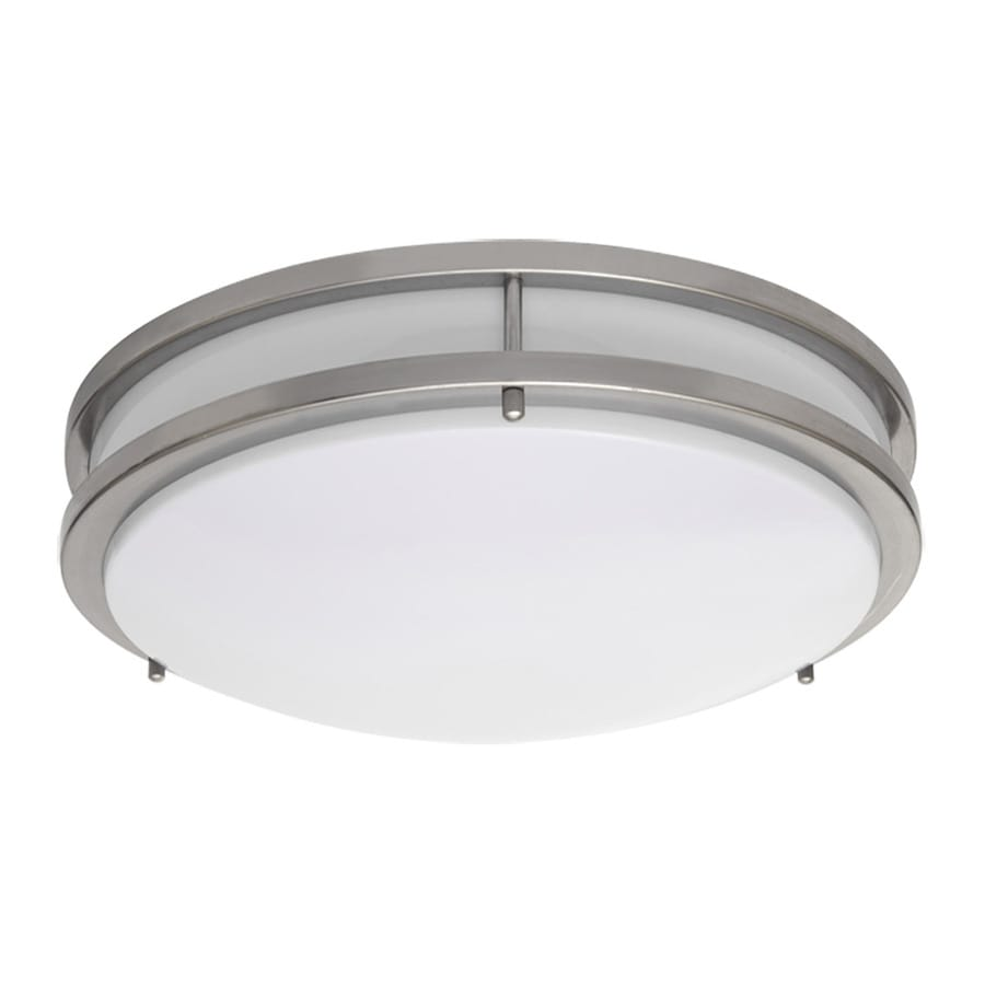 Shop Amax Lighting In W Brushed Nickel LED Flush Mount Light At - Ceiling mount light fixtures for kitchen