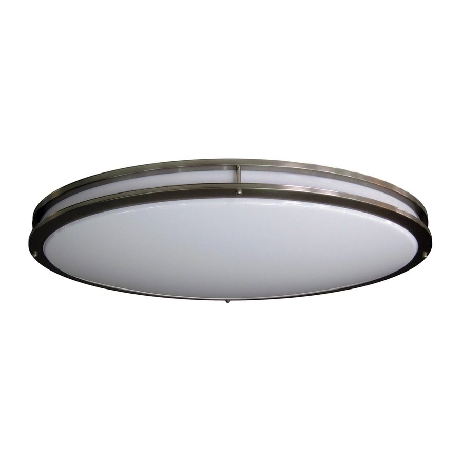 Shop Amax Lighting In W Brushed Nickel LED Flush Mount Light At - Lowes led kitchen ceiling lights