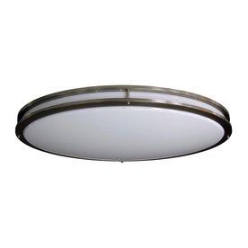 Led Flush Ceiling Lights: Amax Lighting 32.5-in W Brushed Nickel LED Flush Mount Light,Lighting