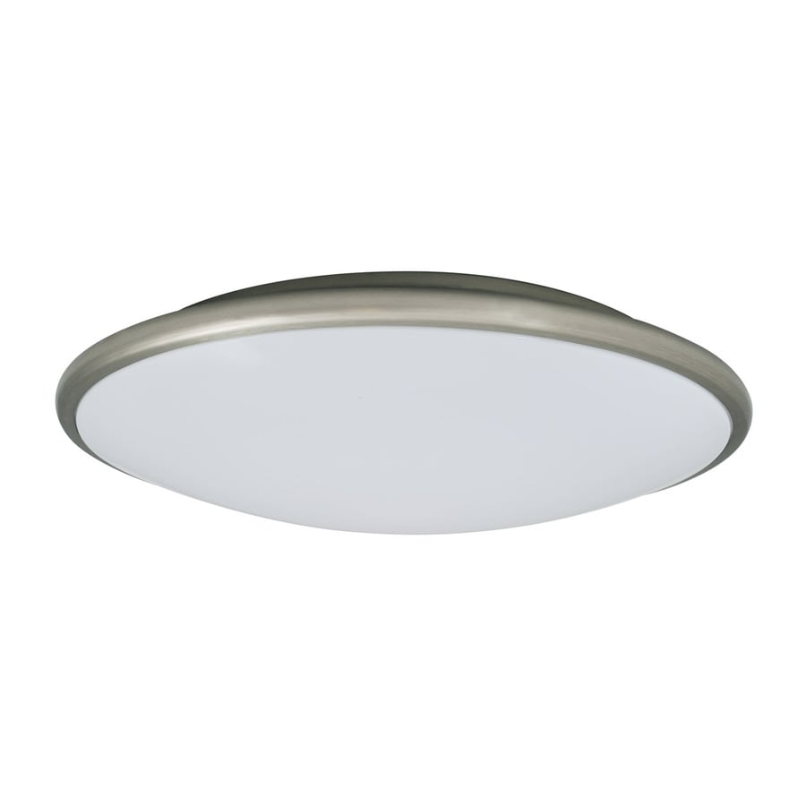 Amax Lighting 13-in W Nickel LED Flush Mount Light