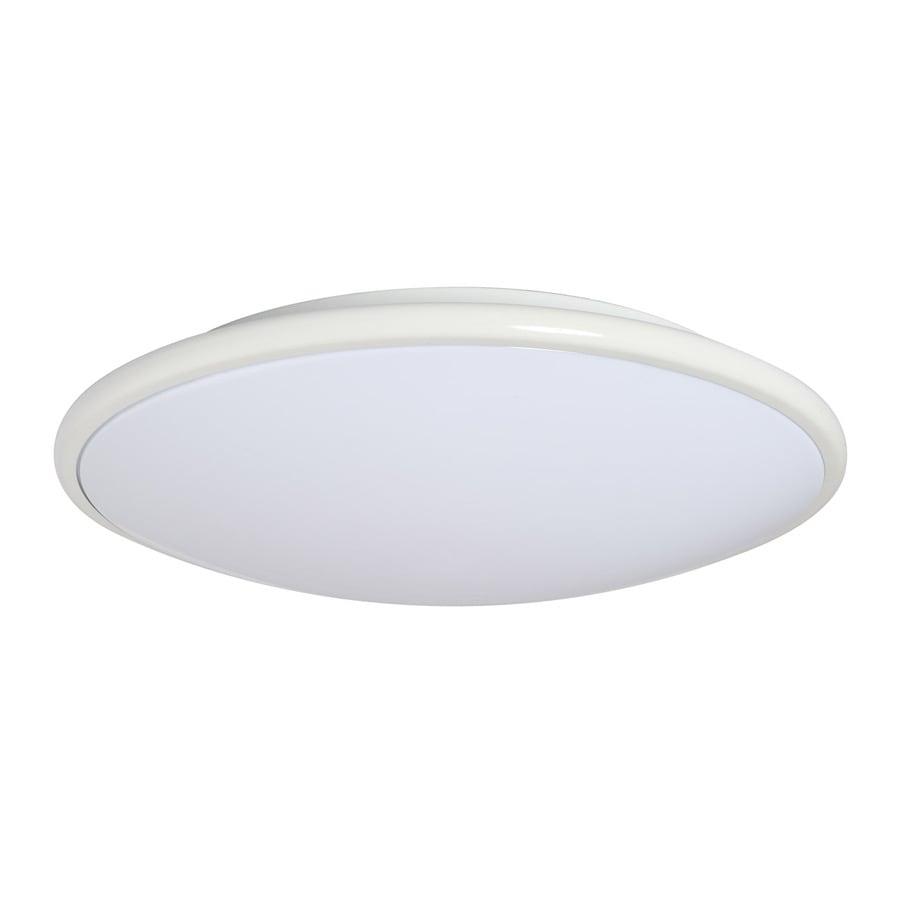 Amax Lighting 17-in W White LED Ceiling Flush Mount Light