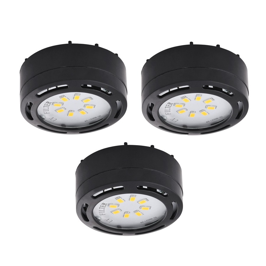 Amax Lighting 3 Pack 2.625 In Plug In Under Cabinet Led Puck Light