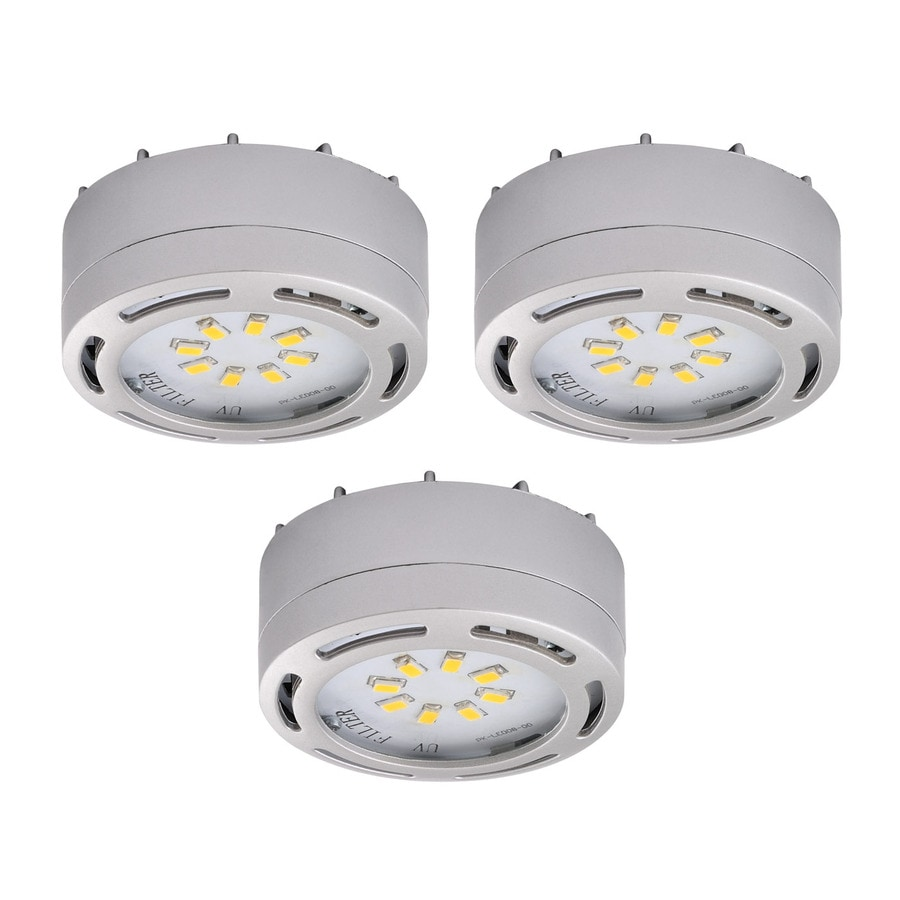 Gentil Amax Lighting 3 Pack 2.625 In Plug In Under Cabinet Led Puck Light