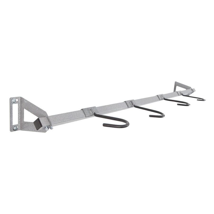 Monkey Bar 7-Piece Silver Steel Bike Rack