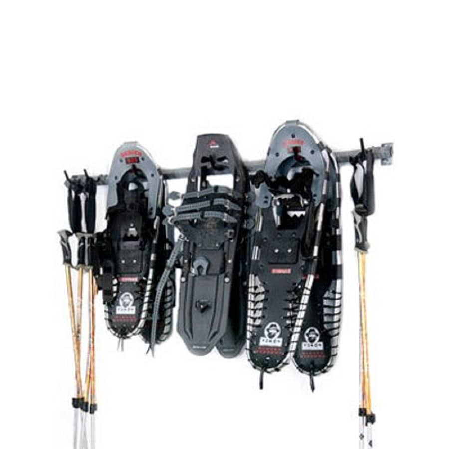 Monkey Bar 9-Piece Silver Steel Snowshoe Rack