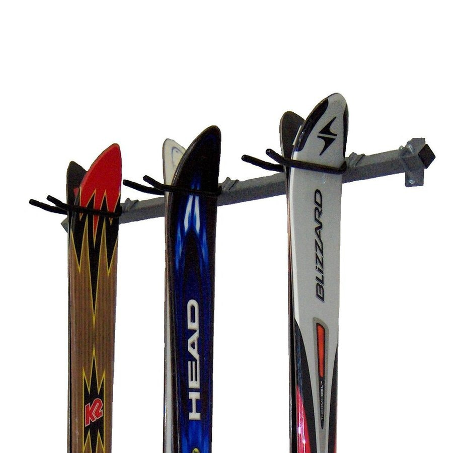 Monkey Bar 35-in L x 3-in H x 4-in D Silver Ski/Snowboard Rack