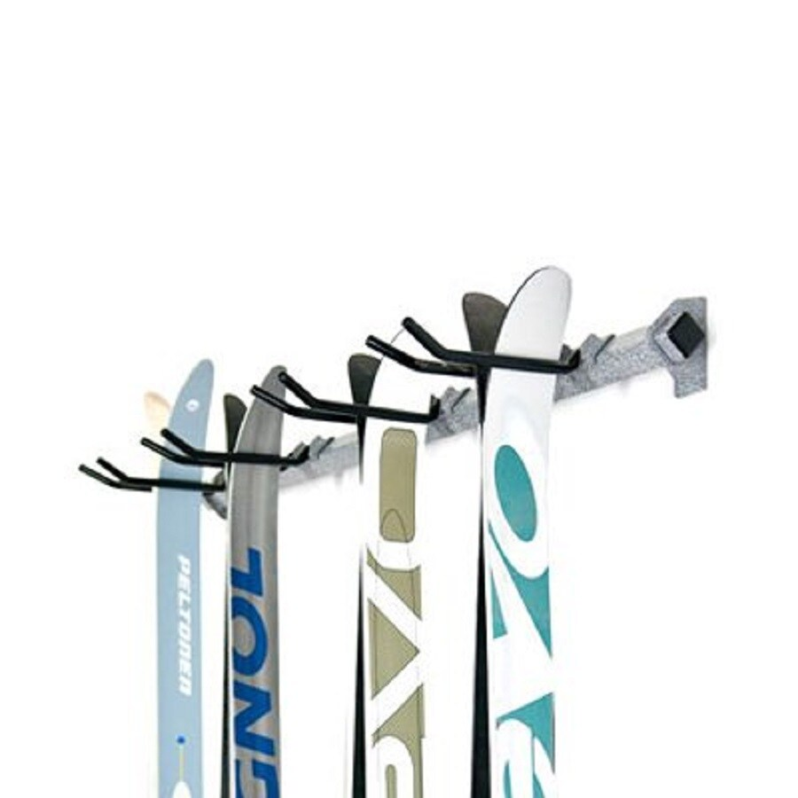 Monkey Bar 7-Piece Silver Steel Ski Rack