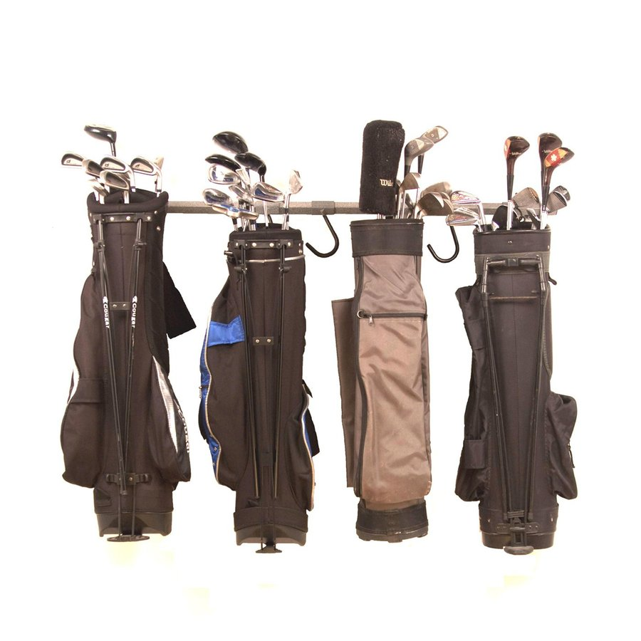 Monkey Bar 9-Piece Silver Steel Golf Bag Rack