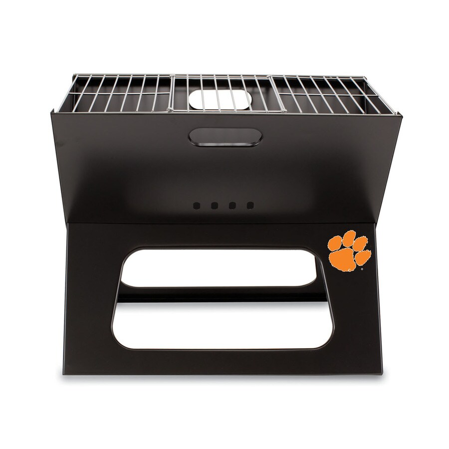 Picnic Time 203.5 Sq.-in Clemson Tigers Portable Charcoal Grill