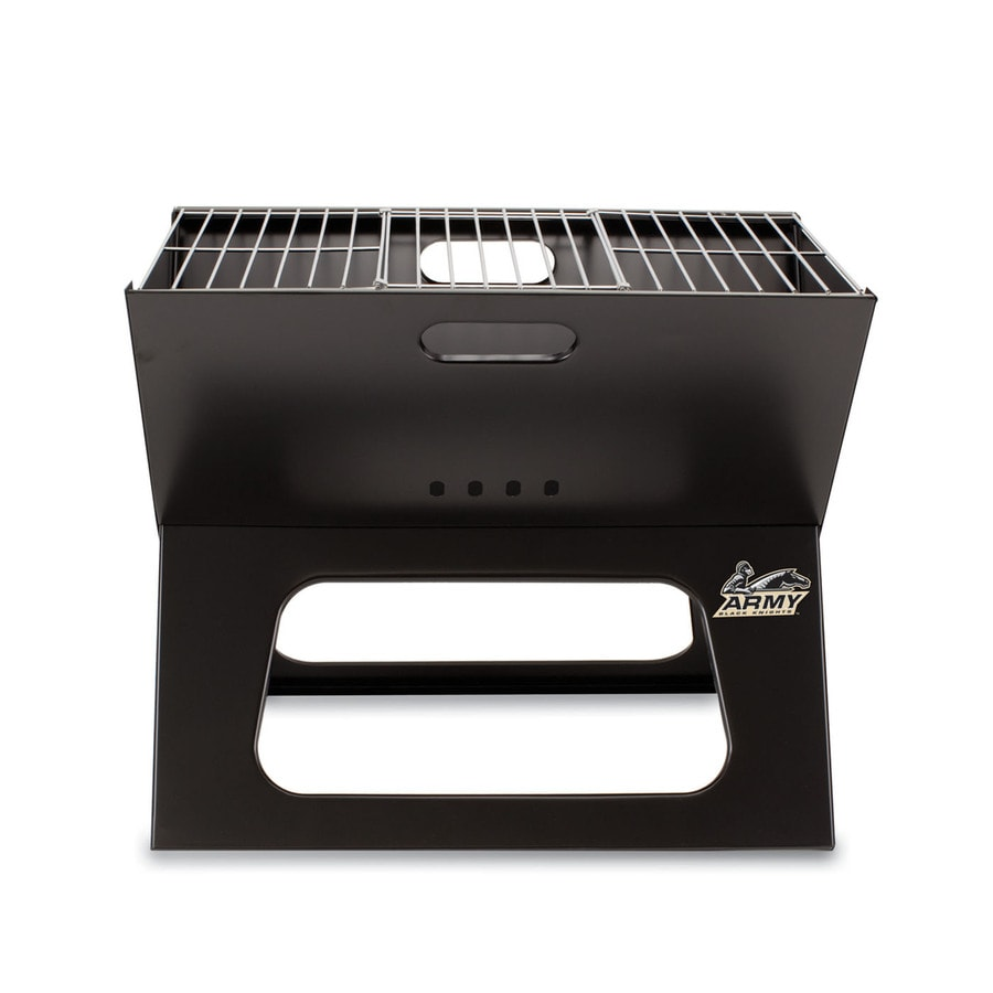 Picnic Time 203.5 Sq.-in Army Black Knights Portable Charcoal Grill