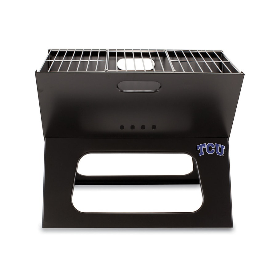 Picnic Time 203.5 Sq.-in Texas Christian University Horned Frogs Portable Charcoal Grill