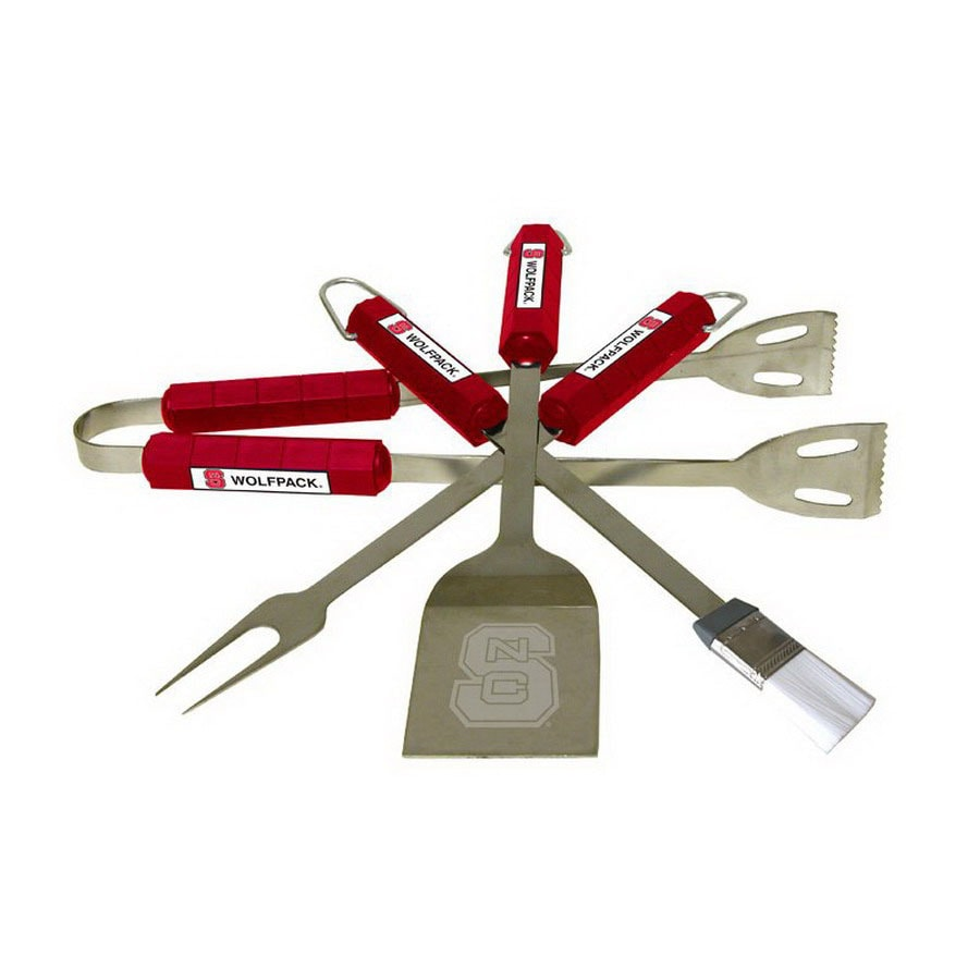 BSI Products 4-Pack North Carolina State University Wolfpack Stainless Steel Tool Set