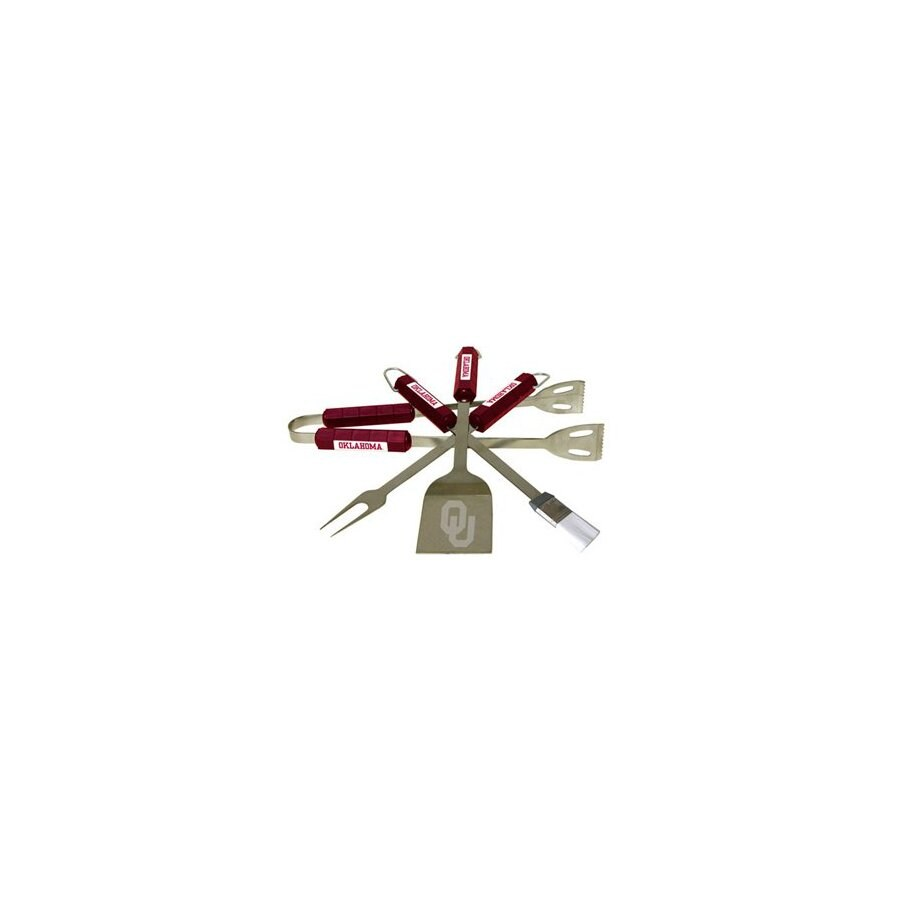 BSI Products 4-Piece University Of Oklahoma Sooners Stainless Steel Tool Set