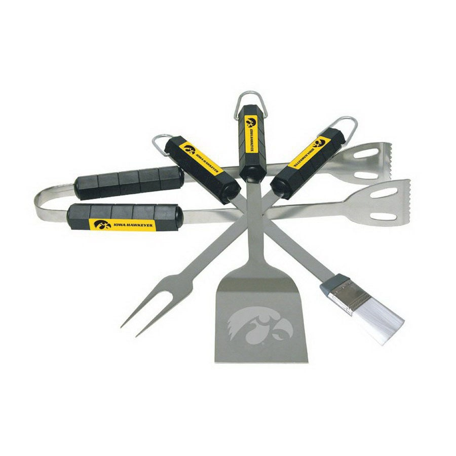 BSI Products 4-Pack University of Iowa Hawkeyes Stainless Steel Tool Set