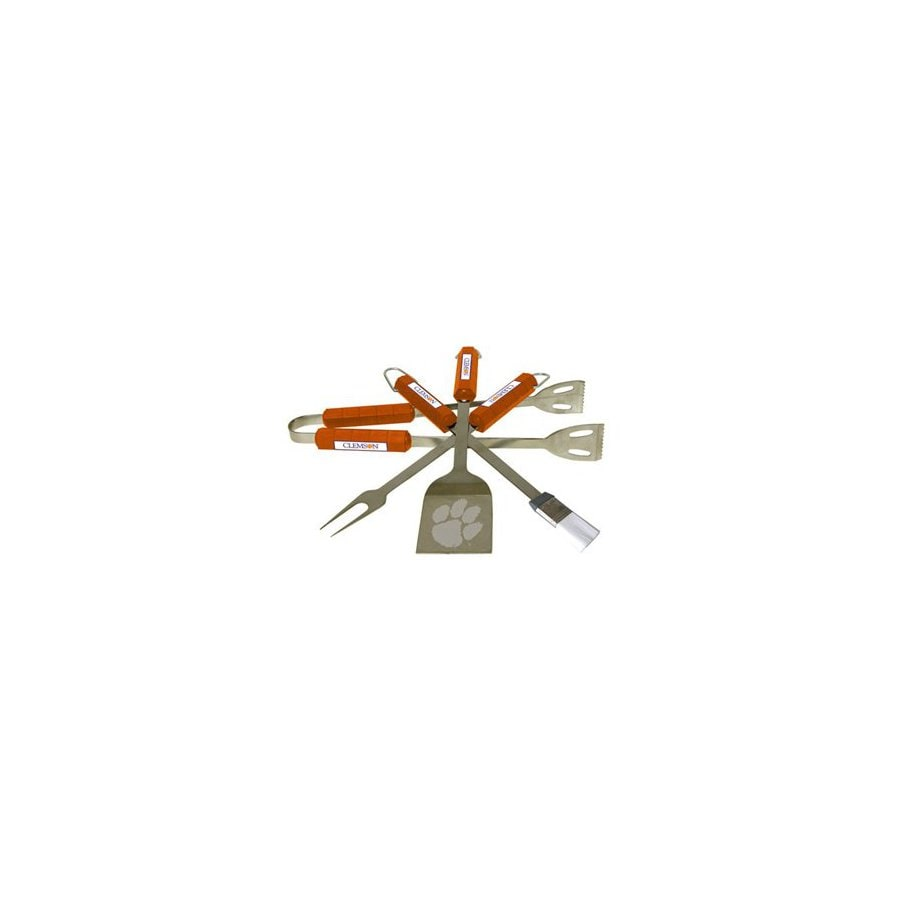 BSI Products 4-Pack Clemson University Tigers Stainless Steel Tool Set
