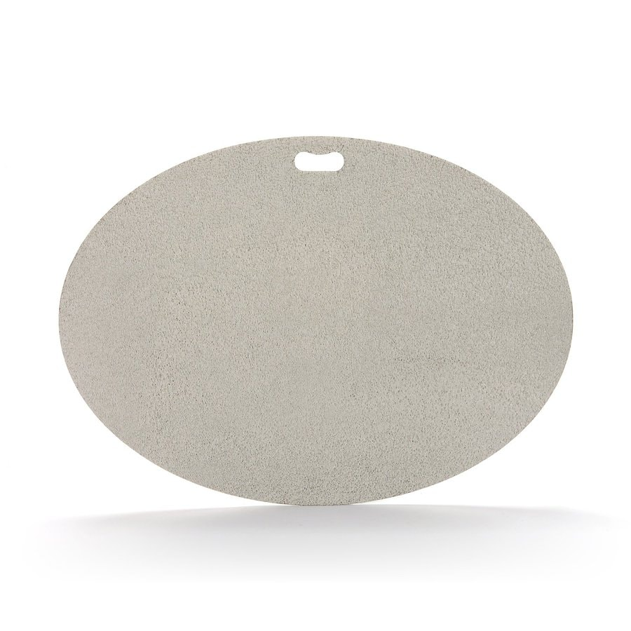 "The ""Original"" Grill Pad Fiber Cement Oval Gray Grill Mat"