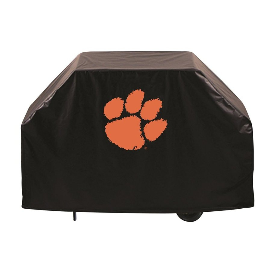 Holland 60-in x 36-in Black Vinyl Clemson University Tigers Grill Cover Fits Most Universal