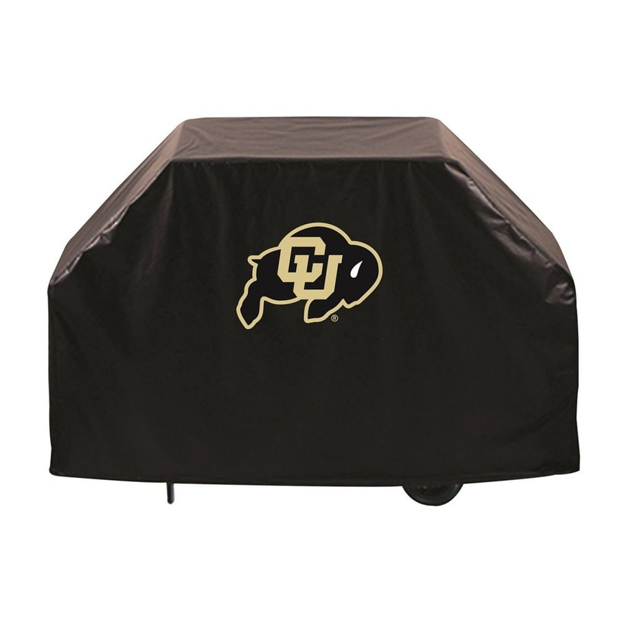 Holland 60-in x 36-in Black Vinyl University of Colorado Buffaloes Grill Cover Fits Most Universal