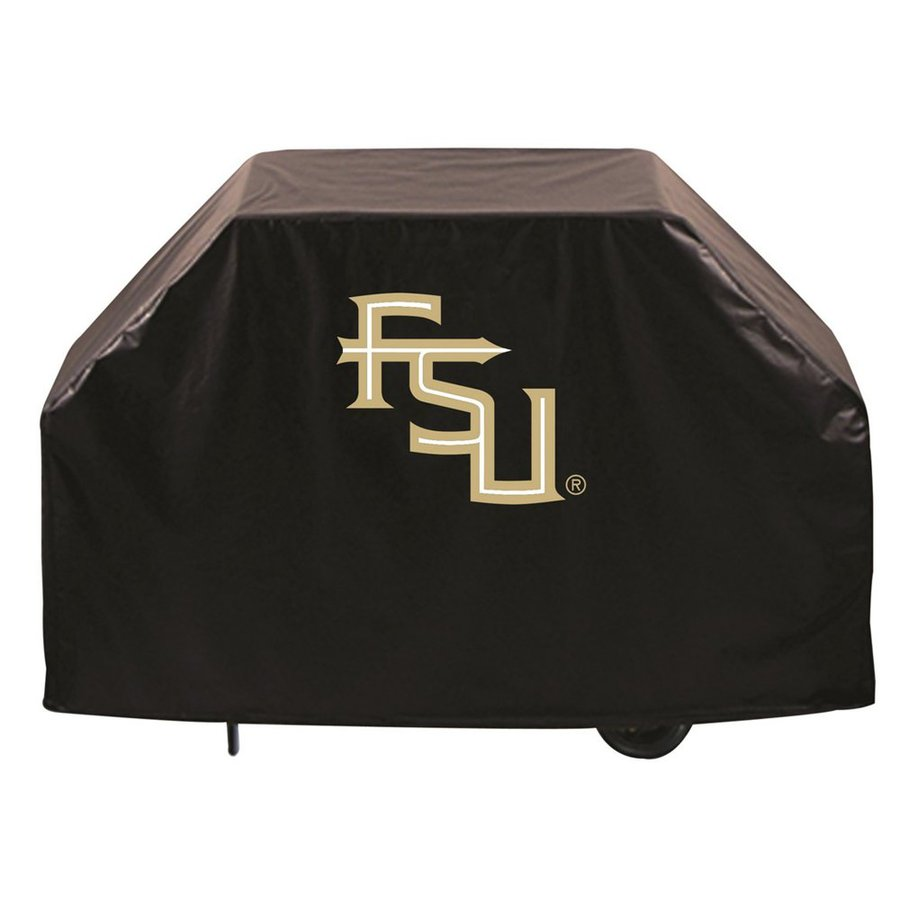 Holland 60-in x 36-in Black Vinyl Florida State Seminoles Grill Cover Fits Most Universal