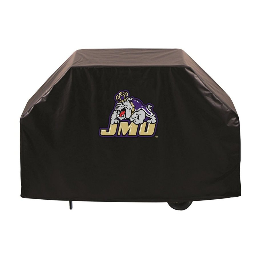 Holland 60-in x 36-in Black Vinyl James Madison University Dukes Grill Cover Fits Most Universal