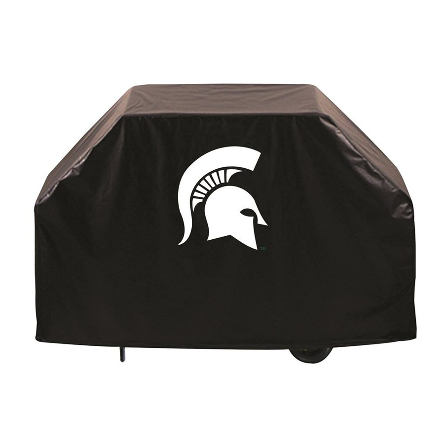 Holland 60-in x 36-in Black Vinyl Michigan State Spartans Grill Cover Fits Most Universal
