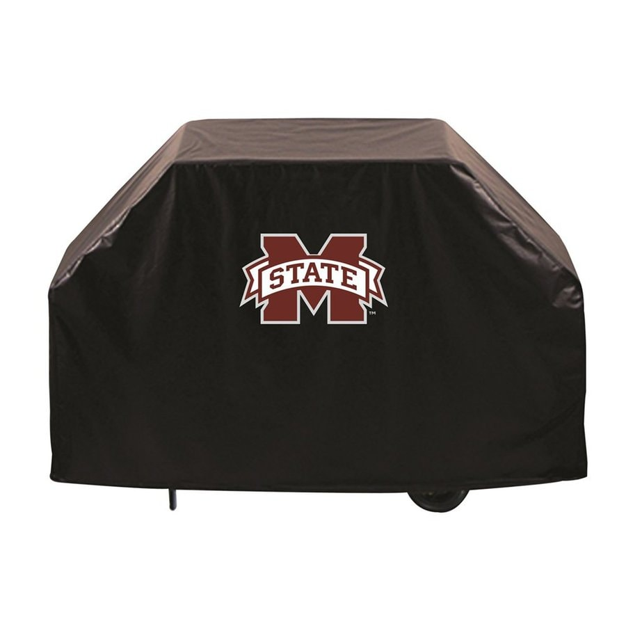 Holland 60-in x 36-in Black Vinyl Mississippi State Bulldogs Grill Cover Fits Most Universal