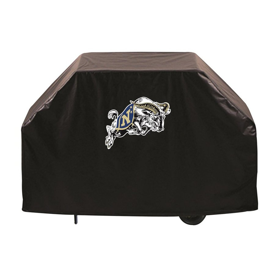 Holland 60-in x 36-in Black Vinyl US Naval Academy Midshipmen Grill Cover Fits Most Universal