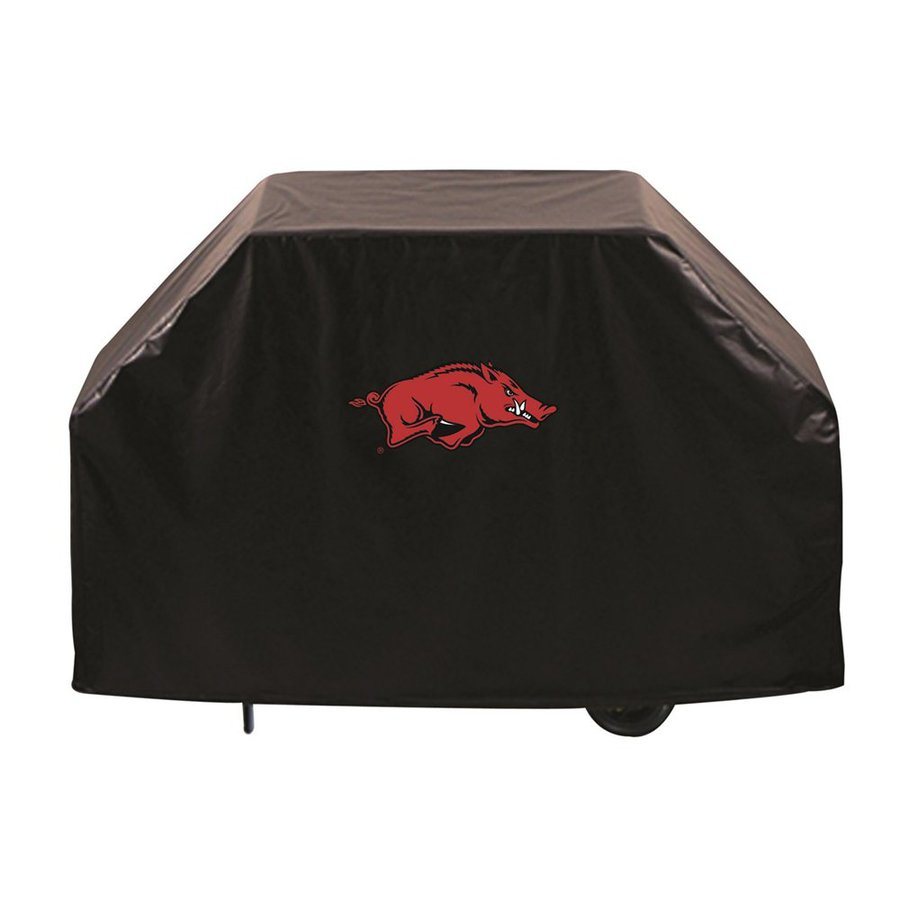 Holland 72-in x 36-in Black Vinyl University of Arkansas Razorbacks Grill Cover Fits Most Universal