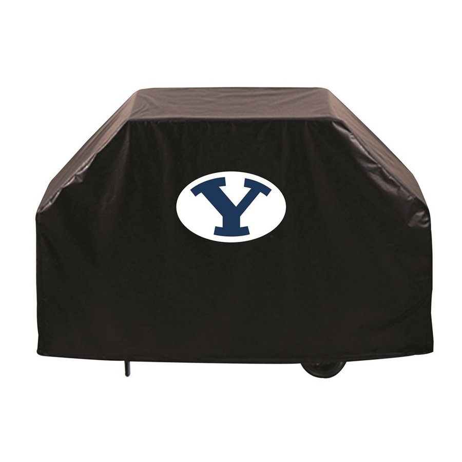 Holland 72-in x 36-in Black Vinyl Brigham Young University Cougars Grill Cover Fits Most Universal