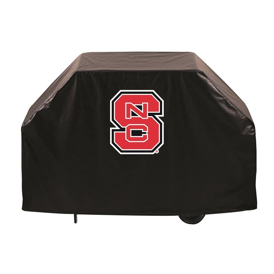 Holland 72-in x 36-in Black Vinyl North Carolina State Wolfpack Grill Cover Fits Most Universal