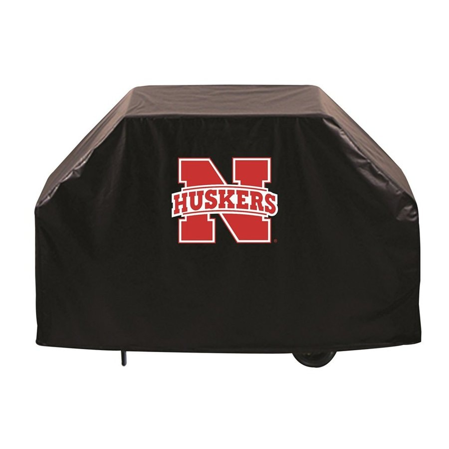 Holland 72-in x 36-in Black Vinyl University of Nebraska Cornhuskers Grill Cover Fits Most Universal