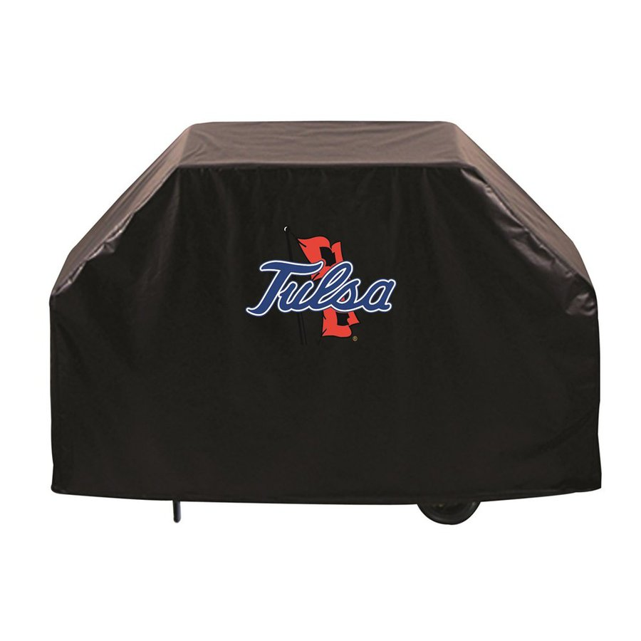 Holland 72-in x 36-in Black Vinyl University of Tulsa Golden Hurricane Grill Cover Fits Most Universal