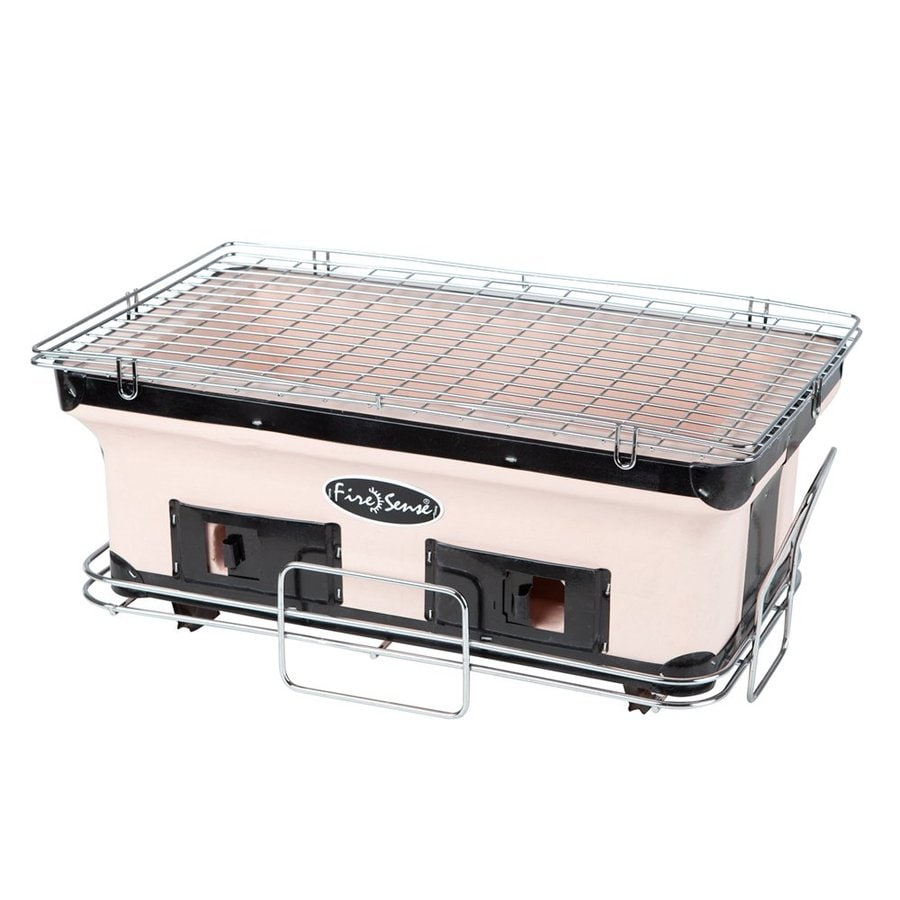 Fire Sense Yakatori 10.24-in White Charcoal Grill