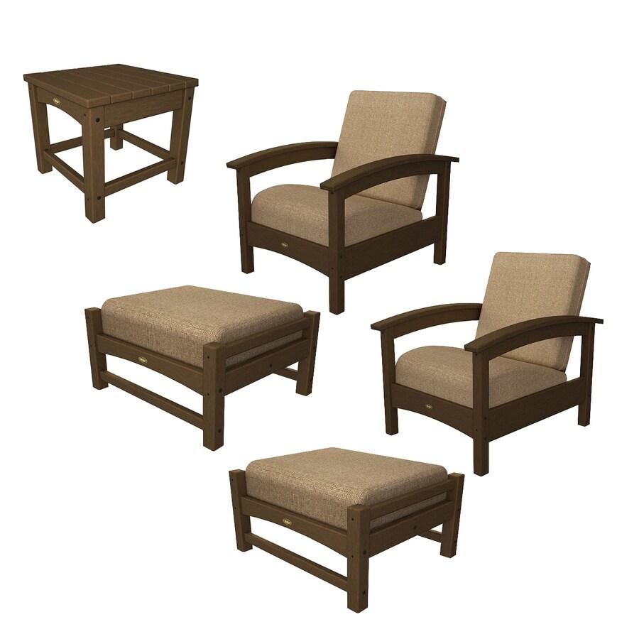 Shop Trex Outdoor Furniture Rockport 5-Piece Plastic Patio ...